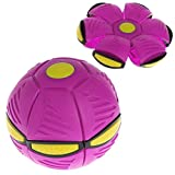Feature:  100% brand new and high quality. Health sport toy for kids. Go hand in hand with your friends,brothers and parents,enjoy your Parent-child time. New UFO deformation ball, breaking the conventional ball games, play for fun and safe. Flying-d...