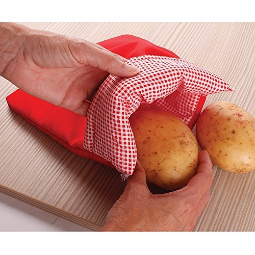 Express Microwave Potato Cooker - Perfect oven baked potatoes in just 4 minutes - Works on any type of potatoes - Holds up to 4 large potatoes - Reusable and machine washable (5) by A-cool (Image #2)