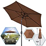 8′ PARASOL PATIO NEW GARDEN PATIO UMBRELLA SUNSHADE MARKET OUTDOOR-BROWN Review