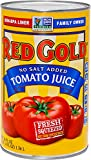Red Gold No Salt Added Tomato Juice, 46oz Cans (Pack of 12)