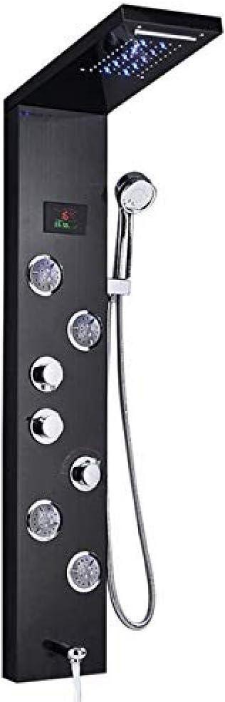 Recién lujo Negro/Cepillado Baño Grifo de la ducha Panel de ducha ...
