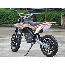 MotoTec MT-Dirt-500 24 Volt Electric Dirt Bike - Orange by MotoTec