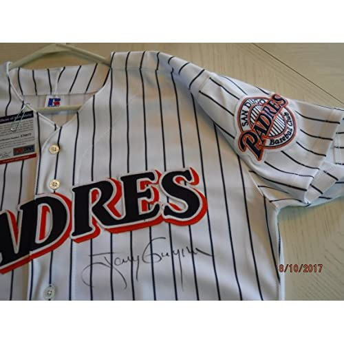 new style 73fb5 ccec4 TONY GWYNN Signed (Mitchell & Ness) Padres Pinstripe Jersey ...