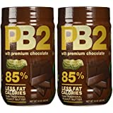 Bell Plantation PB2 Chocolate Peanut Butter, 1 lb Jar (2-pack)