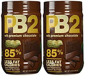 PB2 Bell Plantation Chocolate Powdered Peanut Butter, 1 Pound (2-Pack)