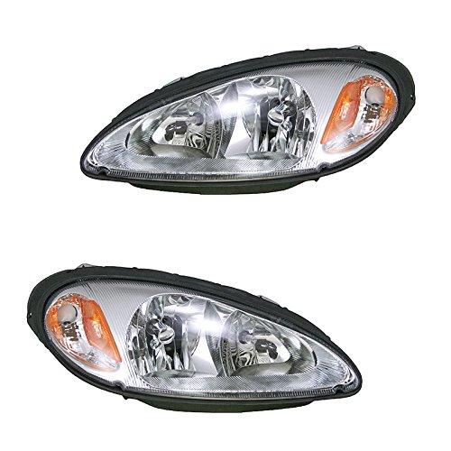 Headlights Headlamps Left & Right Pair Set for 01-05 Chrysler PT Cruiser ()