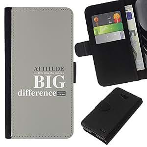 LECELL--Cuero de la tarjeta la carpeta del tirón Smartphone Slots Protección Holder For LG OPTIMUS L90 -- ACTITUD DIFERENCIA GRANDE --