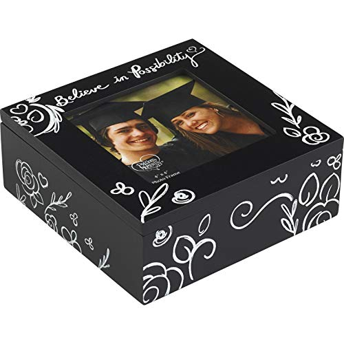 Precious Moments Believe in Possibility Graduation 4x4 Photo Frame 183436 Keepsake Box One Size Multi
