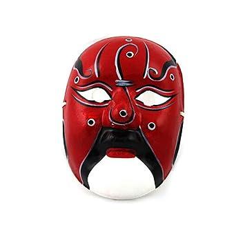 NUOKAI Máscara de Pulpa de Yeso Pintada a Mano máscara de la quintaesencia de Arte Chino