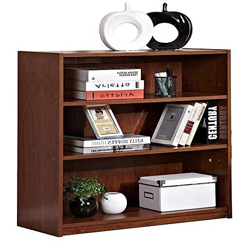 REALONE 3-Tier Open Shelf Bookcase Modular Medium Oak Standing Storage Shelves for Living Room Bedroom & Study