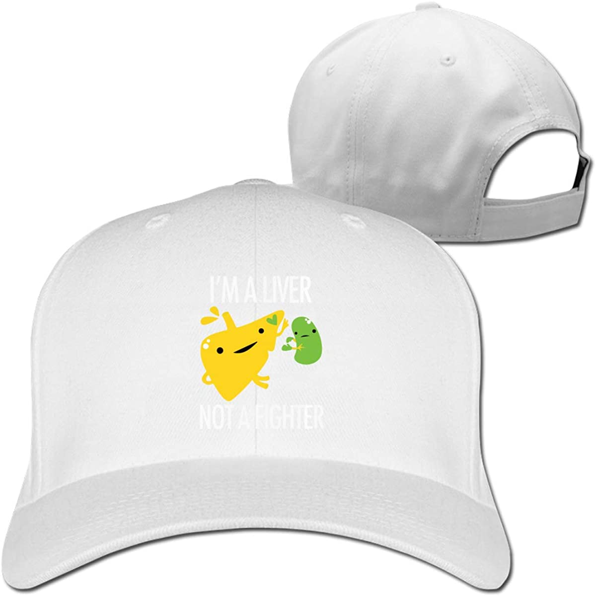 I/â/€/™M A Liver NOT A Fighter Unisex Pure Color Baseball Cap Classic Adjustable Ball Hat