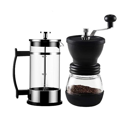 SDKFJ Cafetera Resistente al Calor Molinillo de café de Cristal ...