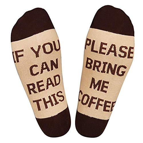 Chaofanjiancai Clearance Men Women Novelty Funny Saying Crew Socks If You Can Read This Socks