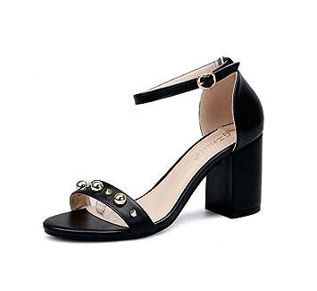 Sandalias Tobillo Zapatos 8cm Tacón Bomba De Correa D'orsay Grueso P0Oknw