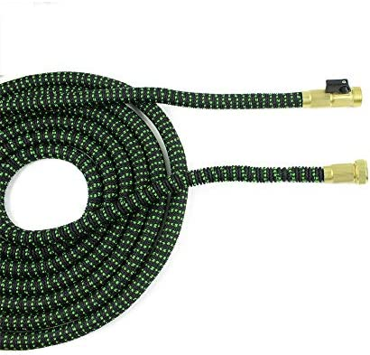 JJZXZQ Garden Hose, Expandable Flexible Water Pipe, 10 Pattern High-Pressure Water Spray Nozzle, Free Lawn & Plant Watering,50FT