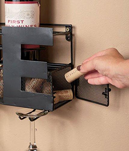 Metal Wall Mount Wine Bottle Rack Hold Wine Corks Wine