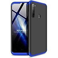 """Kit Danet Capa Capinha Anti Impacto 360 Full Para Xiaomi Redmi Note 8T Com Tela 6.3"""" Polegadas - Case Acrílica Fosca Com Película De Vidro Temperado (Preto com dourado)"""