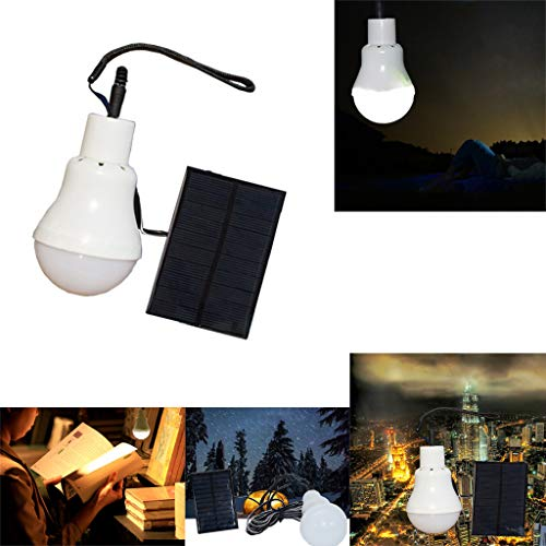 - Little Story in Stock, Portable Solar Powered LED Rechargeable Bulb Light Outdoor Camping Yard Lamp LI2