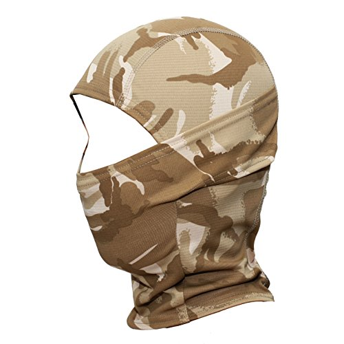 (JIUSY Camouflage Balaclava Hood Ninja Outdoor Cycling Motorcycle Motorbike Hunting Military Tactical Airsoft Paintball Helmet liner Gear Wind Dust Sun UV Protection Breathable Full Face Mask SP-05)