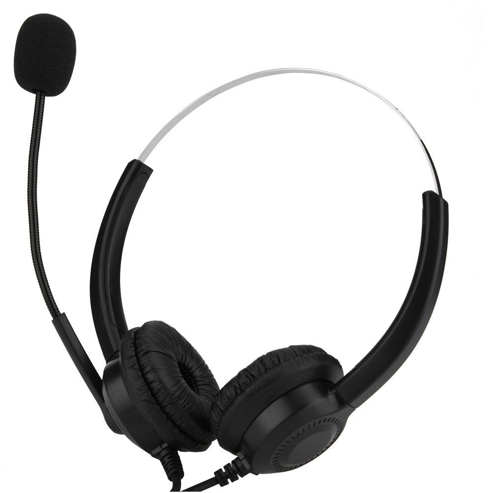 fosa USB Call Center Headphone with Microphone, Noise Canceling Call Center Headset Compatible with Computer Telephone Desktop for Phone Sales, Telephone Counseling Services, Insurance, Hospitals