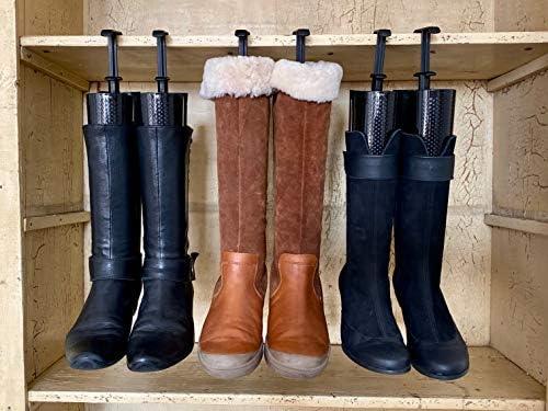 biped 3 paires dembauchoirs /à bottes avec ressort de tension et poign/ée de tendeur de bottes de 35cm noir z2374