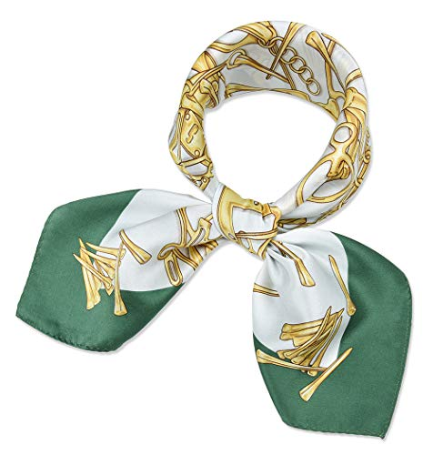 - Women's Small Square 100% Real Mulberry Silk Scarfs Scarves 21