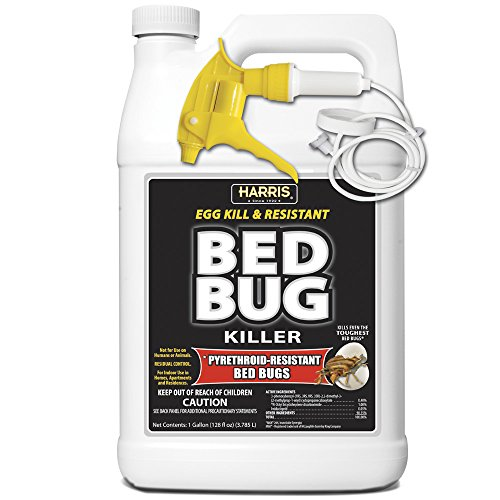 Harris Toughest Bed Bug Killer, Liquid Spray with Odorless and Non-Staining Extended Residual Kill Formula (Gallon) (Best Bed Bug Fogger)