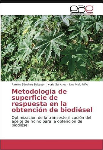 Metodología de superficie de respuesta en la obtención de biodiésel: Optimización de la transesterificación del aceite de ricino para la obtención de ...