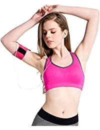 Racerback Sports Bras - Padded Seamless High Impact Support for Yoga Gym Workout Fitness