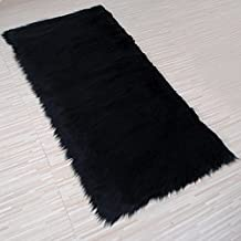 yazi SheepSkin Rug Real Sheepskin Blanket Natural Fur Used As An Area Rug Or Across Your Armchair Approx. 2 ft 5inch by 4ft 6inch