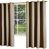 Thermalogic Darcy Insulated Woven Jacquard 54 x 108 Grommet Top Panel Brown