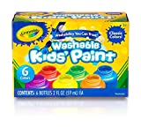 Crayola Washable Kids Paint, Classic Colors, 6 Count, Painting Supplies, Gift: more info