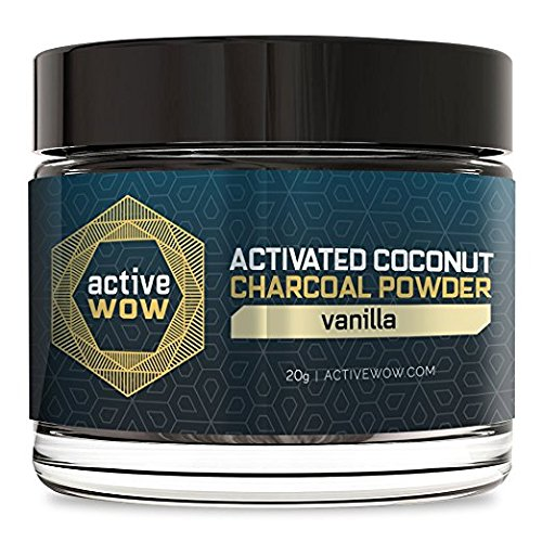 Active Wow Teeth Whitening Charcoal Powder Vanilla Mint