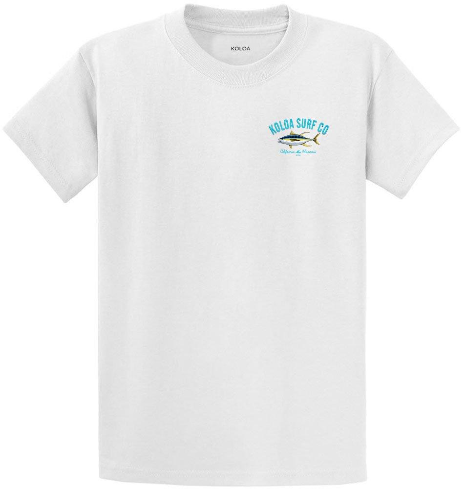 Joe's USA SHIRT メンズ B07B9SKMWW Regular 2X-Large (47-49)|White With Yellowfin Tuna Design White With Yellowfin Tuna Design Regular 2X-Large (47-49)