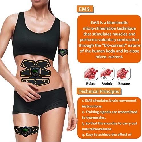 Abs Stimulator Abdominal Muscle, Muscle Stimulator, EMS ABS Trainer Body Toning Fitness, USB Rechargeable Toning Belt ABS Fit Weight Muscle Toner Workout Machine for Men & Women 2