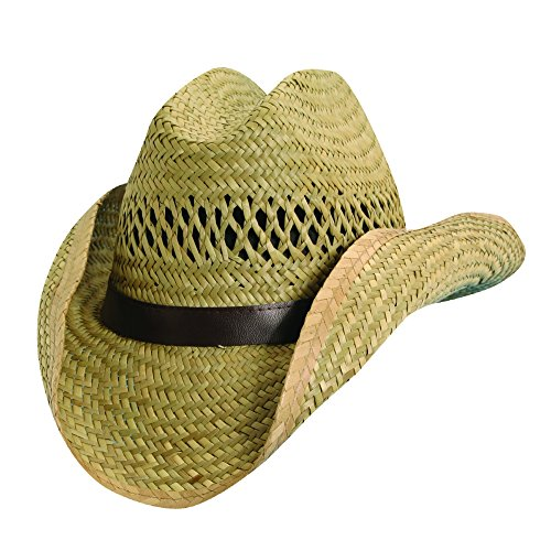 Dorfman Pacific Kids Rush Straw Western Cowboy Hat, Medium, Natural