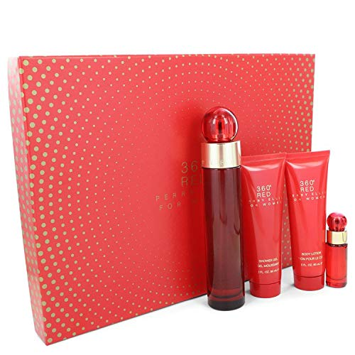 Gift Set -- 3.4 oz Eau De Parfum Spray + 3 oz Body Lotion + 3 oz Shower Gel + .25 oz Mini EDP Spray