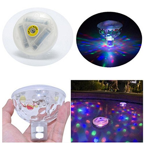 Gold Happy AAA Battery Powered LED Underwater Fountain Light Bathtub Light Disco Spa Swimming Pool Float lamp Pond Fish Tank Aquarium Light by Gold Happy (Image #1)