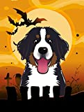 Caroline's Treasures BB1795CHF Halloween Bernese Mountain Dog Canvas House Size Flag, Multicolor, Large Review