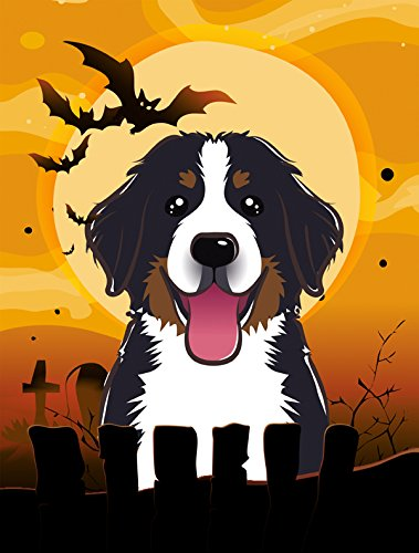 Caroline's Treasures BB1795GF Halloween Bernese Mountain Dog Garden Size Flag, Small, Multicolor - Bernese Mountain Dog Garden Flag