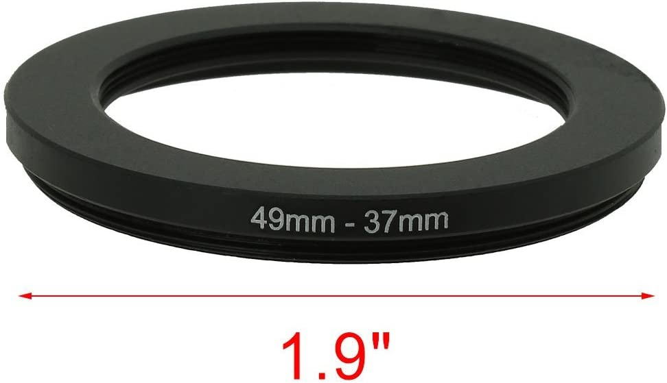 uxcell 49mm-43mm 49mm to 43mm Black Step Down Ring Adapter for Camera