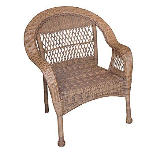 Oakland Living AZ9999-CHAIR-NT Resin Wicker Chair, Medium Natural ()