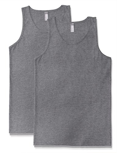 Men's Premium Basic Solid Tank Top Jersey Casual Shirts M H Gray X 2 by JD Apparel