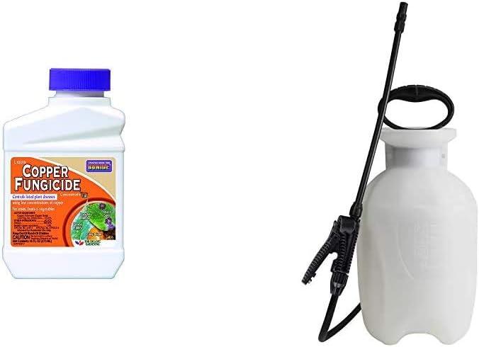 Bonide Chemical Copper 811 4E Fungicide, 16 fl oz & Chapin 20000 Garden Sprayer 1 Gallon Lawn