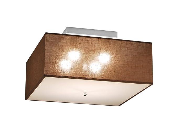 Plafoniere Con Base In Legno : Plafoniera illuminazione a soffitto in legno massiccio ls