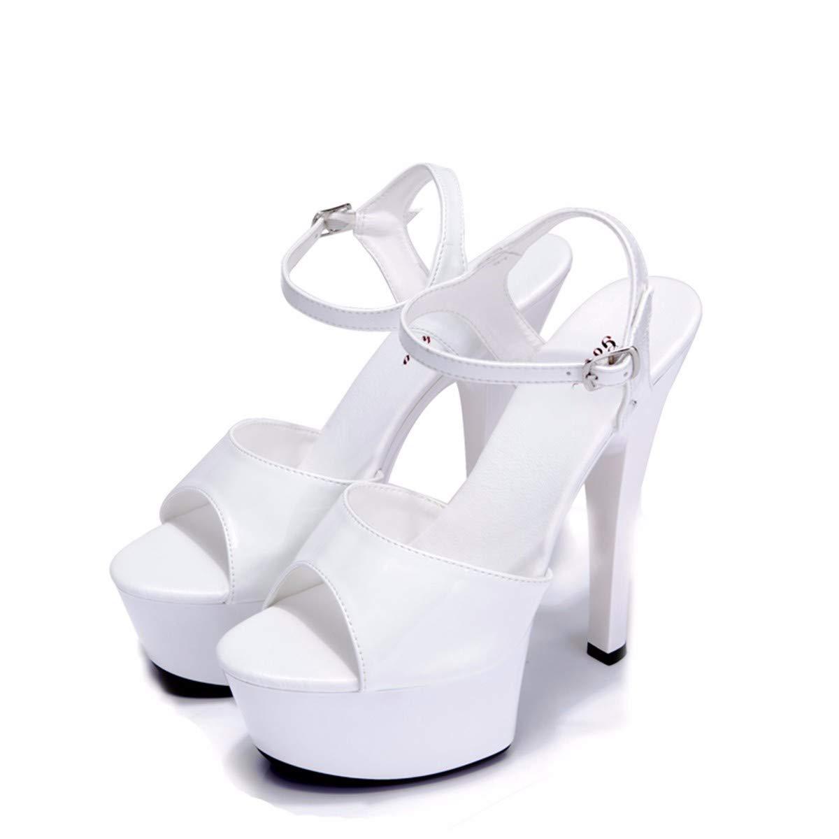 KPHY Damenschuhe High-Heel schuhe 15Cm Wasserdichte Plattform Dicke Boden Sandalen Sandalen Sandalen Mode Schleudern Beweis Model Wanderschuhe.37 des 8b403e