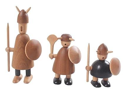 Amazoncom Vemly Wood Viking Ornaments Solid Wood Figurine Home
