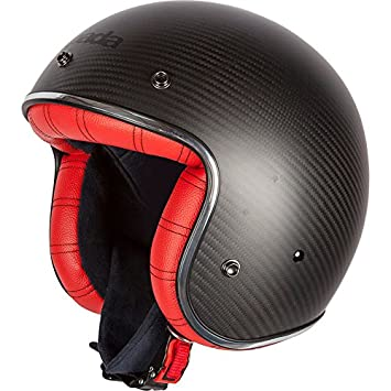 Spada Darkstar Carbon Open Face Motorcycle Helmet XS Carbon Red