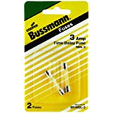 Bussmann BP/MDL-3 3 Amp Time Delay Glass Tube Fuse 250Vac, UL Listed Carded, 2-Pack