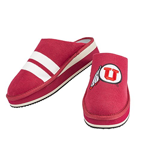 Zenzee NCAA College Slippers - Comfy Platform Slip On Knit Sneaker - Perfect For Indoor/Outdoor Wear Utah Utes